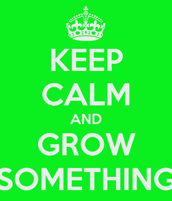 KEEP CALM AND GROW SOMETHING