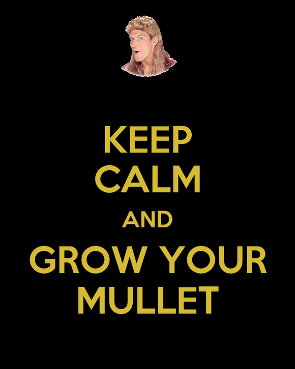KEEP CALM AND GROW YOUR MULLET