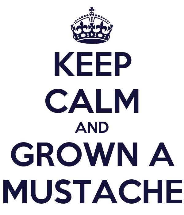 KEEP CALM AND GROWN A MUSTACHE