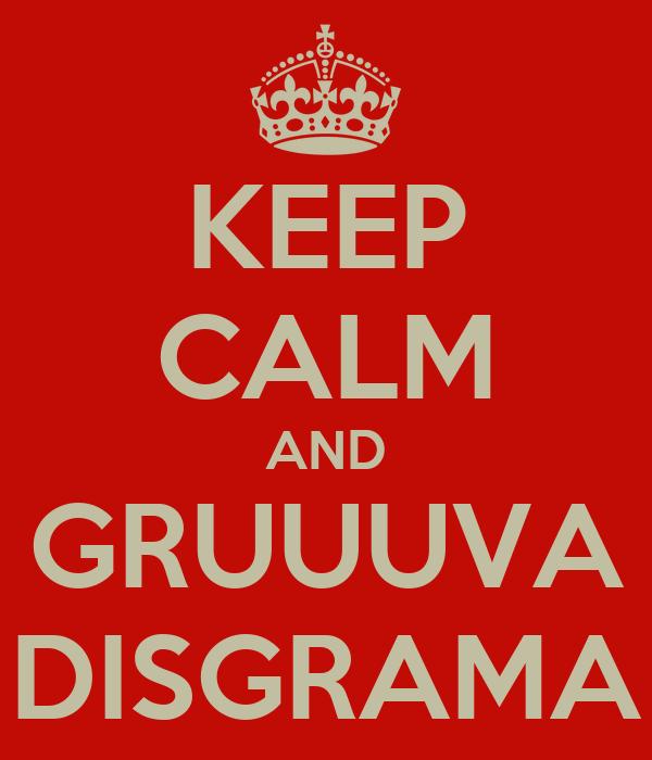 KEEP CALM AND GRUUUVA DISGRAMA