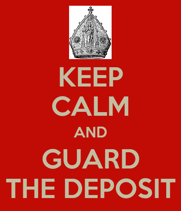 KEEP CALM AND GUARD THE DEPOSIT