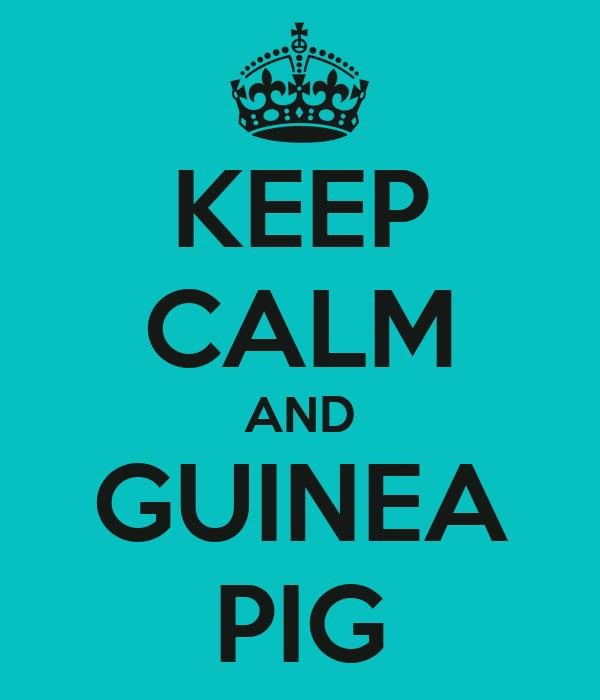 KEEP CALM AND GUINEA PIG