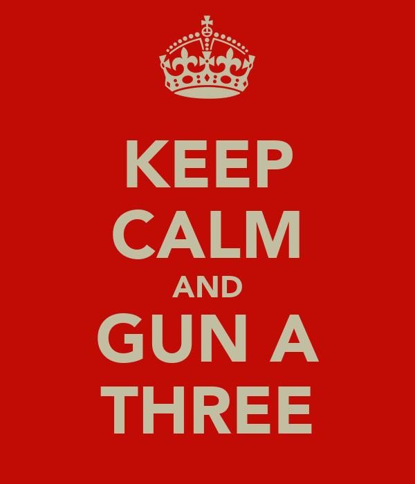KEEP CALM AND GUN A THREE
