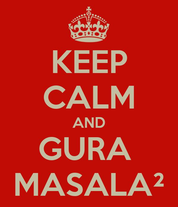 KEEP CALM AND GURA  MASALA²