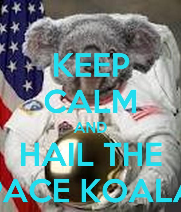 KEEP CALM AND HAIL THE SPACE KOALAS