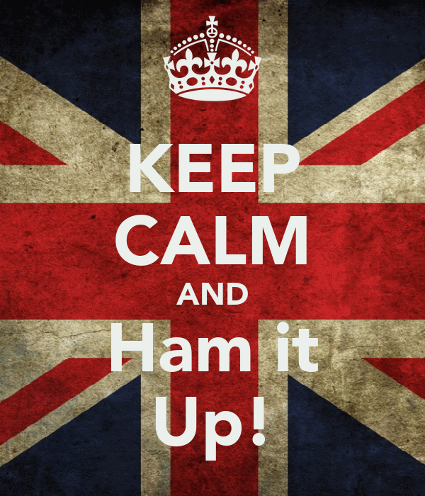KEEP CALM AND Ham it Up!