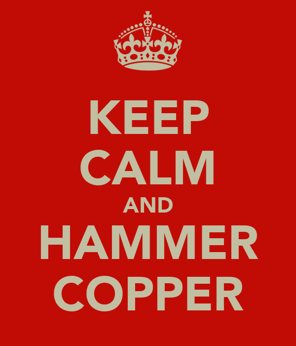 KEEP CALM AND HAMMER COPPER