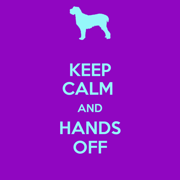 KEEP CALM  AND HANDS OFF