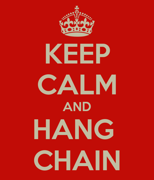 KEEP CALM AND HANG  CHAIN