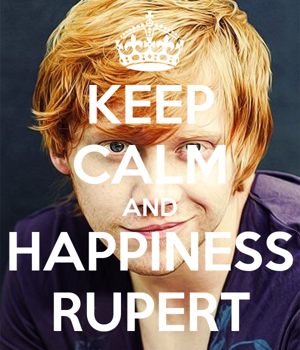 KEEP CALM AND HAPPINESS RUPERT