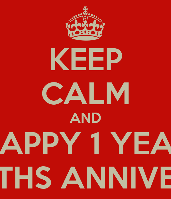 keep calm and happy 1 year 8 months anniversary poster tak