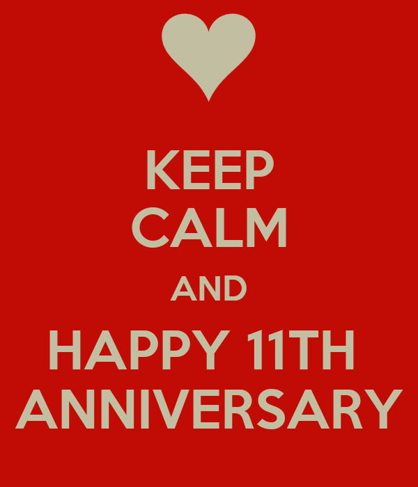 keep calm and happy 11th anniversary poster ivezagod keep calm o