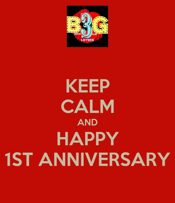 Keep calm and happy st anniversary poster kiss o matic