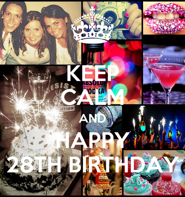 KEEP CALM AND HAPPY 28TH BIRTHDAY