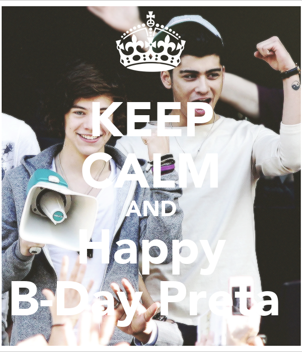KEEP CALM AND Happy B-Day Preta