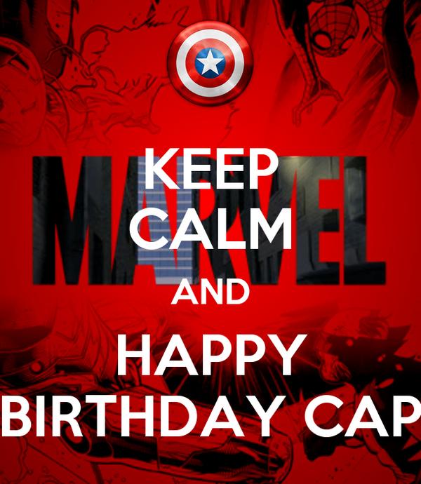 KEEP CALM AND HAPPY BIRTHDAY CAP
