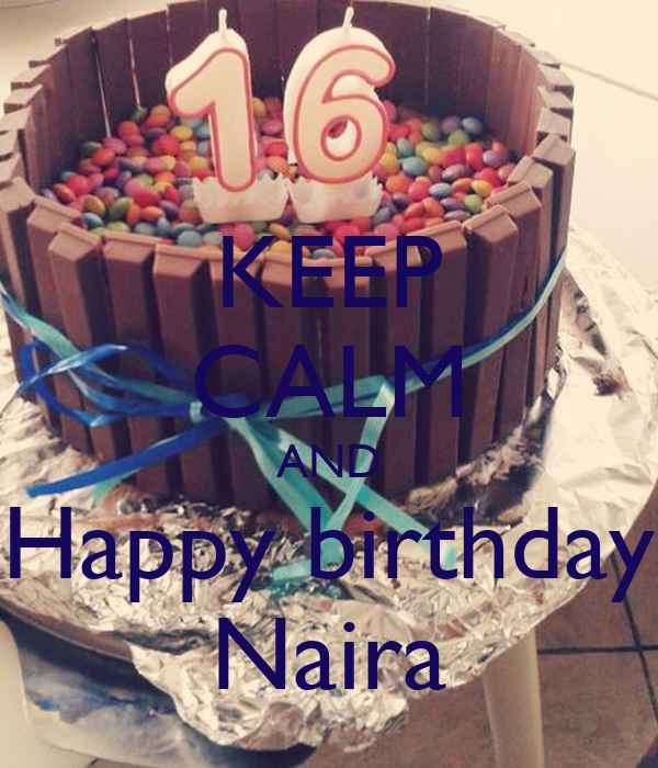 KEEP CALM AND Happy birthday Naira