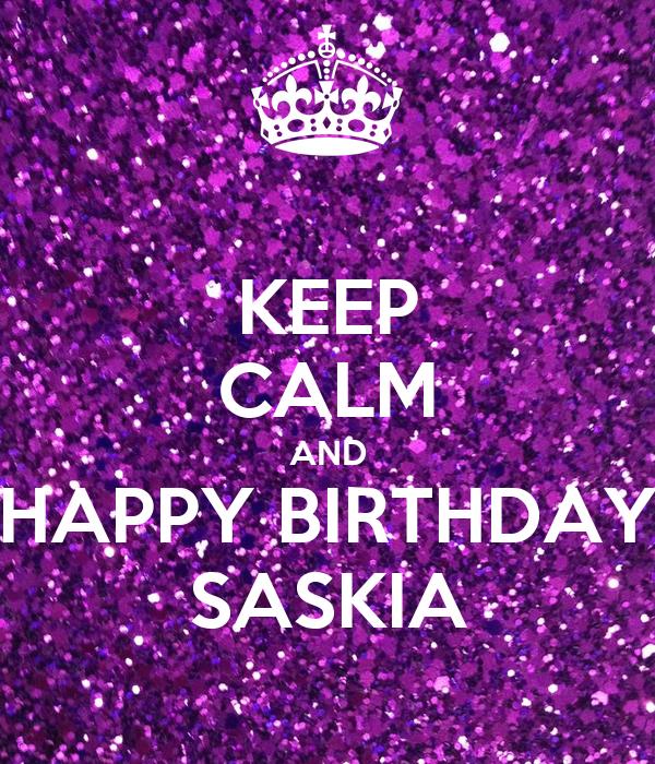 Happy Birthday Saskia