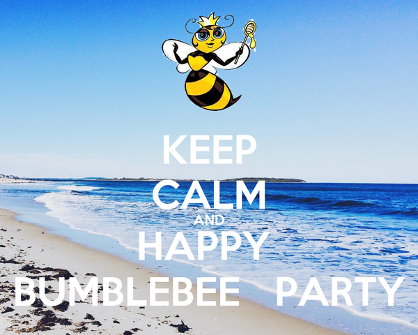KEEP CALM AND HAPPY  BUMBLEBEE   PARTY