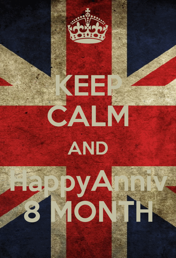KEEP CALM AND HappyAnniv 8 MONTH