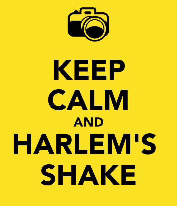 KEEP CALM AND HARLEM'S  SHAKE