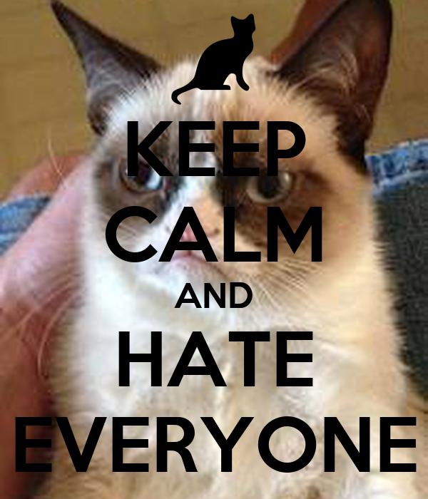 KEEP CALM AND HATE EVERYONE