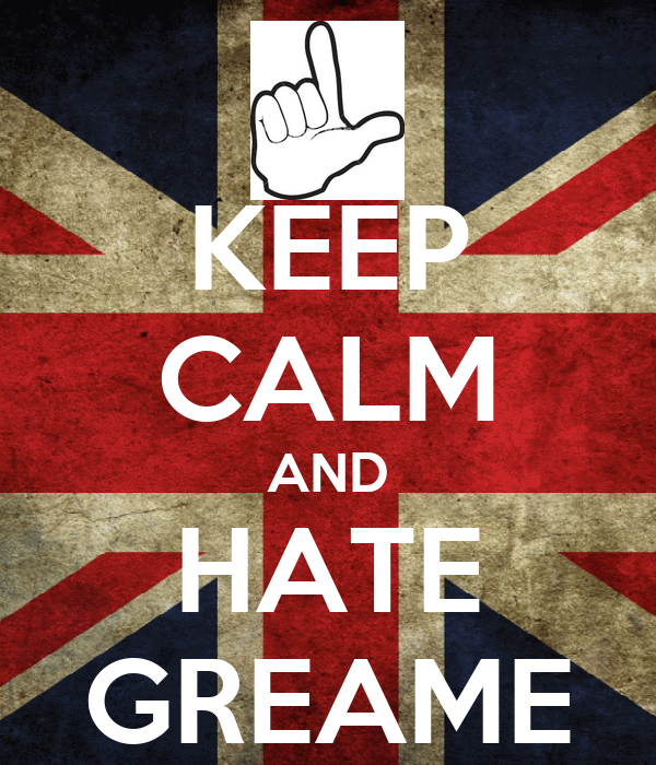 KEEP CALM AND HATE GREAME