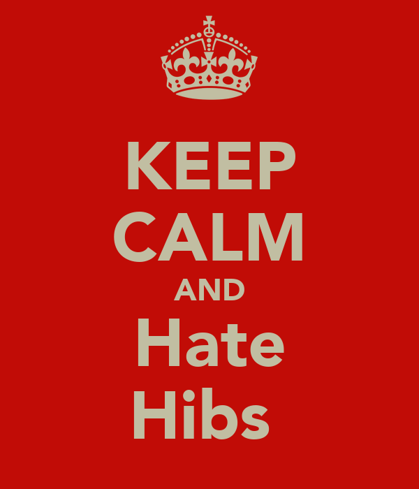 KEEP CALM AND Hate Hibs
