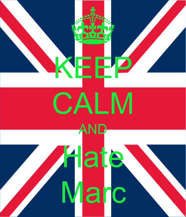 KEEP CALM AND Hate Marc