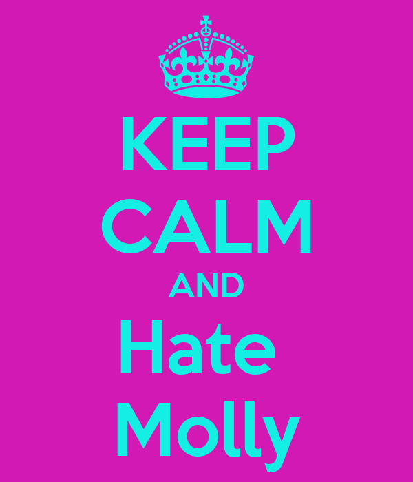 KEEP CALM AND Hate  Molly