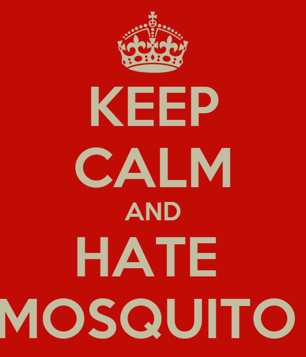 KEEP CALM AND HATE  MOSQUITO