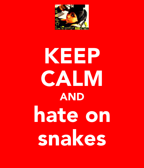 KEEP CALM AND hate on snakes