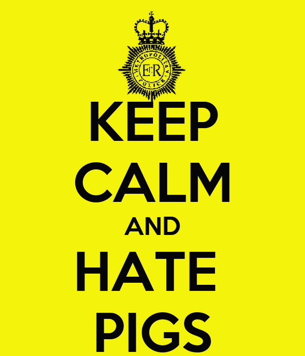 KEEP CALM AND HATE  PIGS