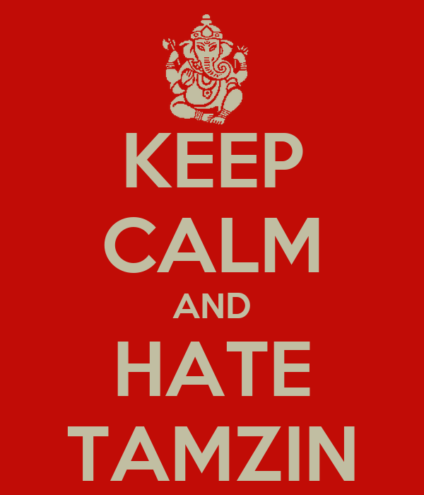 KEEP CALM AND HATE TAMZIN