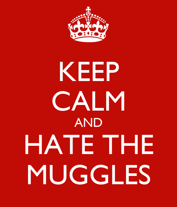KEEP CALM AND HATE THE MUGGLES