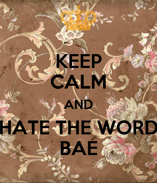 KEEP CALM AND HATE THE WORD BAE