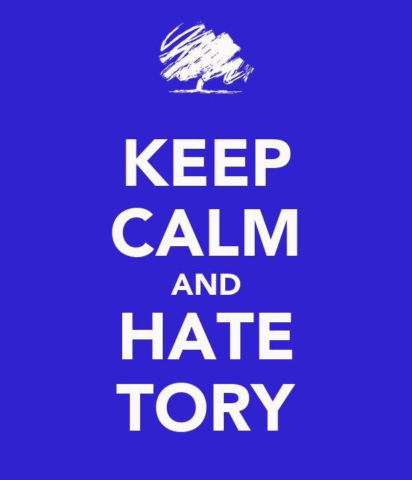 KEEP CALM AND HATE TORY