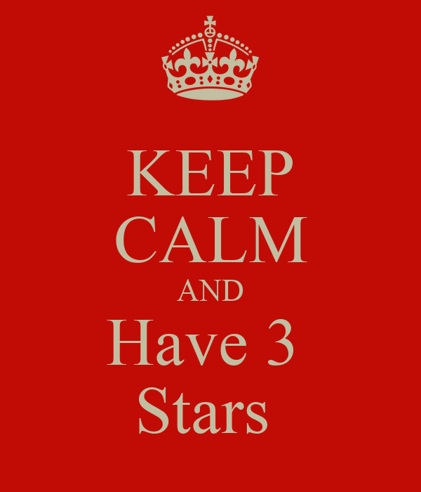 KEEP CALM AND Have 3  Stars