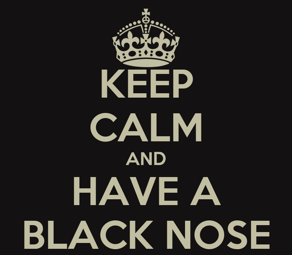 KEEP CALM AND HAVE A BLACK NOSE