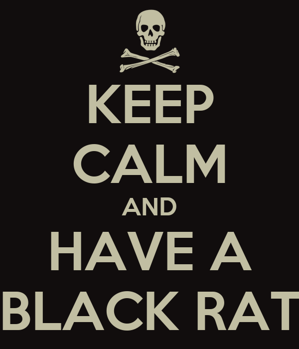 KEEP CALM AND HAVE A BLACK RAT