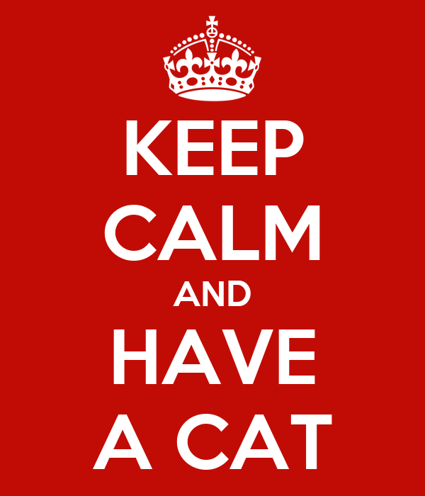 KEEP CALM AND HAVE A CAT