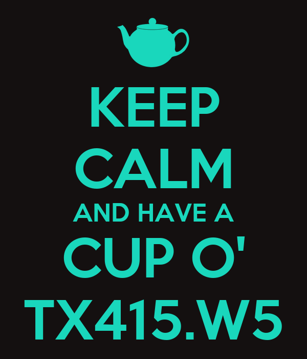 KEEP CALM AND HAVE A CUP O' TX415.W5