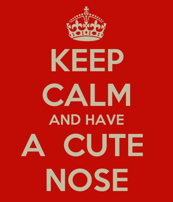 KEEP CALM AND HAVE A  CUTE  NOSE