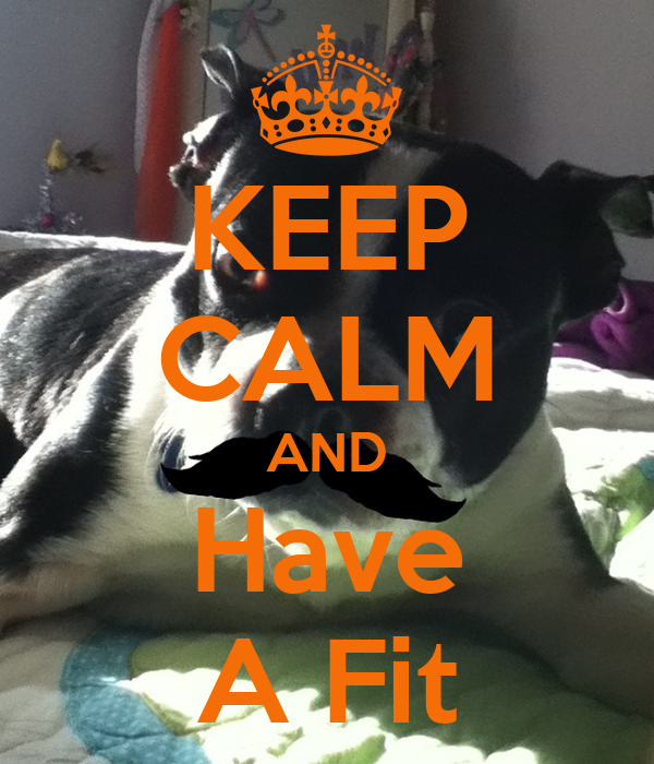 KEEP CALM AND Have A Fit