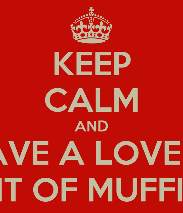 KEEP CALM AND HAVE A LOVELY BIT OF MUFFIN