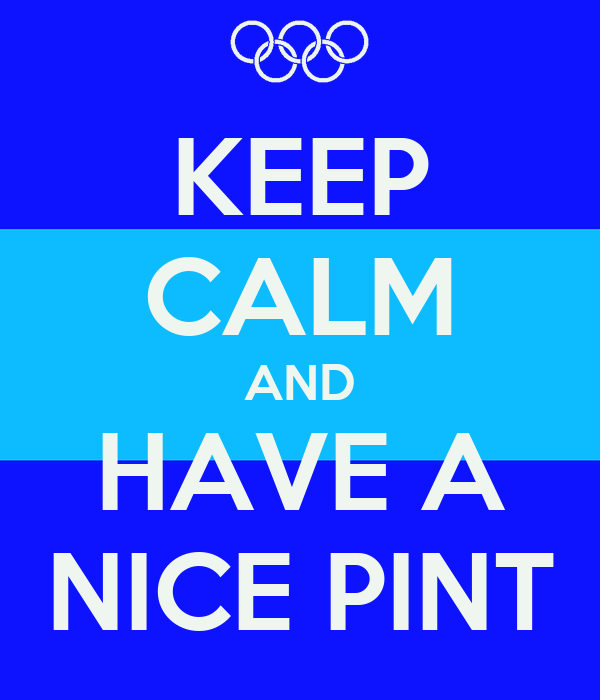 KEEP CALM AND HAVE A NICE PINT