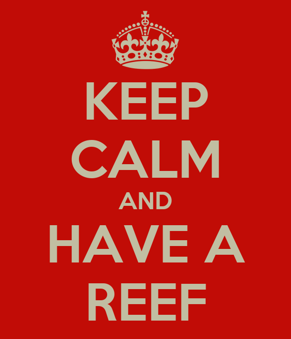 KEEP CALM AND HAVE A REEF