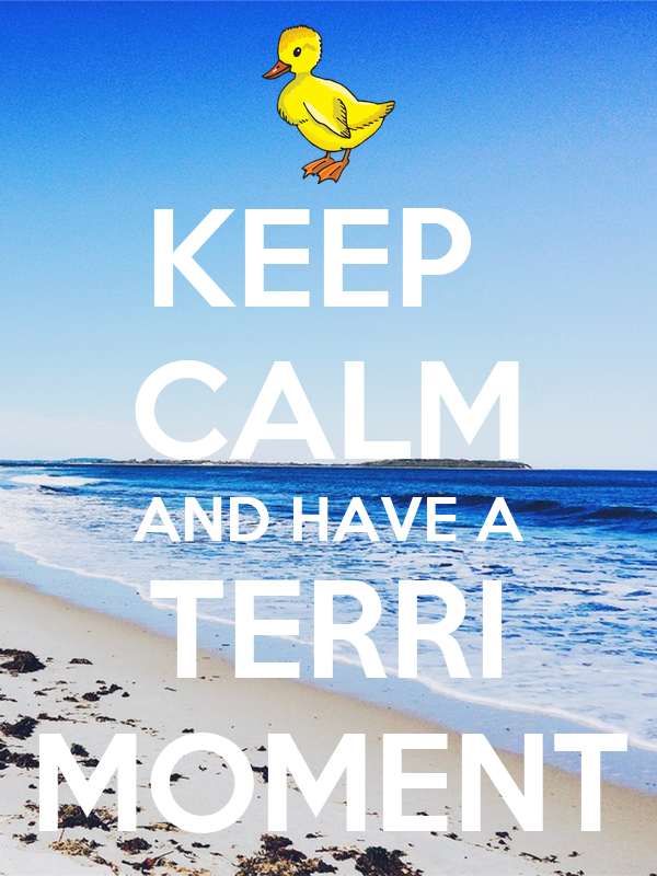 KEEP  CALM AND HAVE A TERRI MOMENT