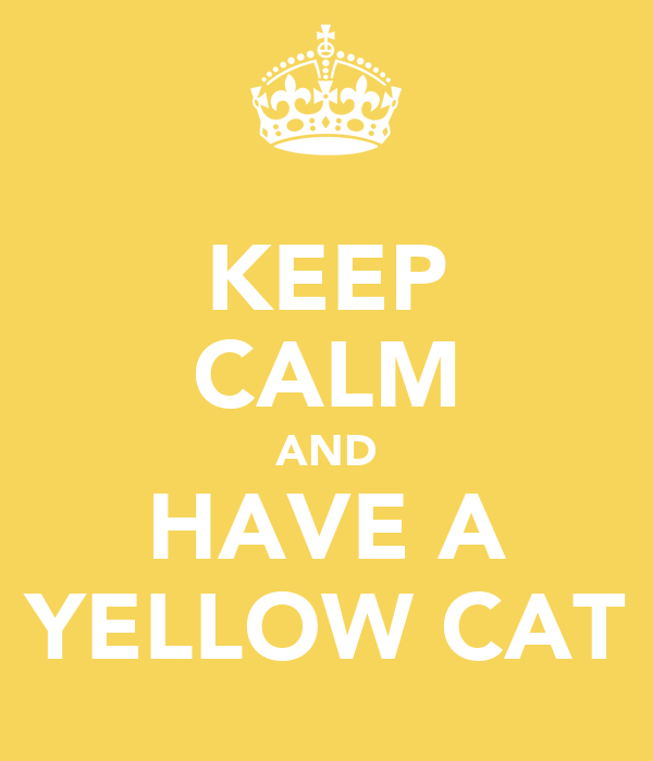 KEEP CALM AND HAVE A YELLOW CAT