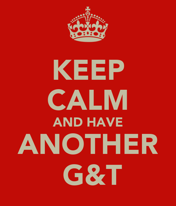 KEEP CALM AND HAVE ANOTHER  G&T